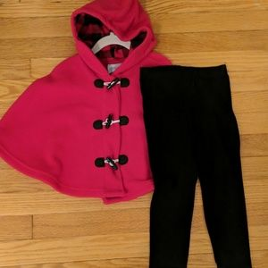 NWT SET fleece poncho & leggings